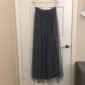 Bridesmaid Maxi Tull Skirt